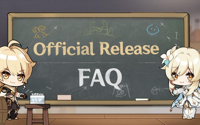 Genshin Impact Official Release Faq
