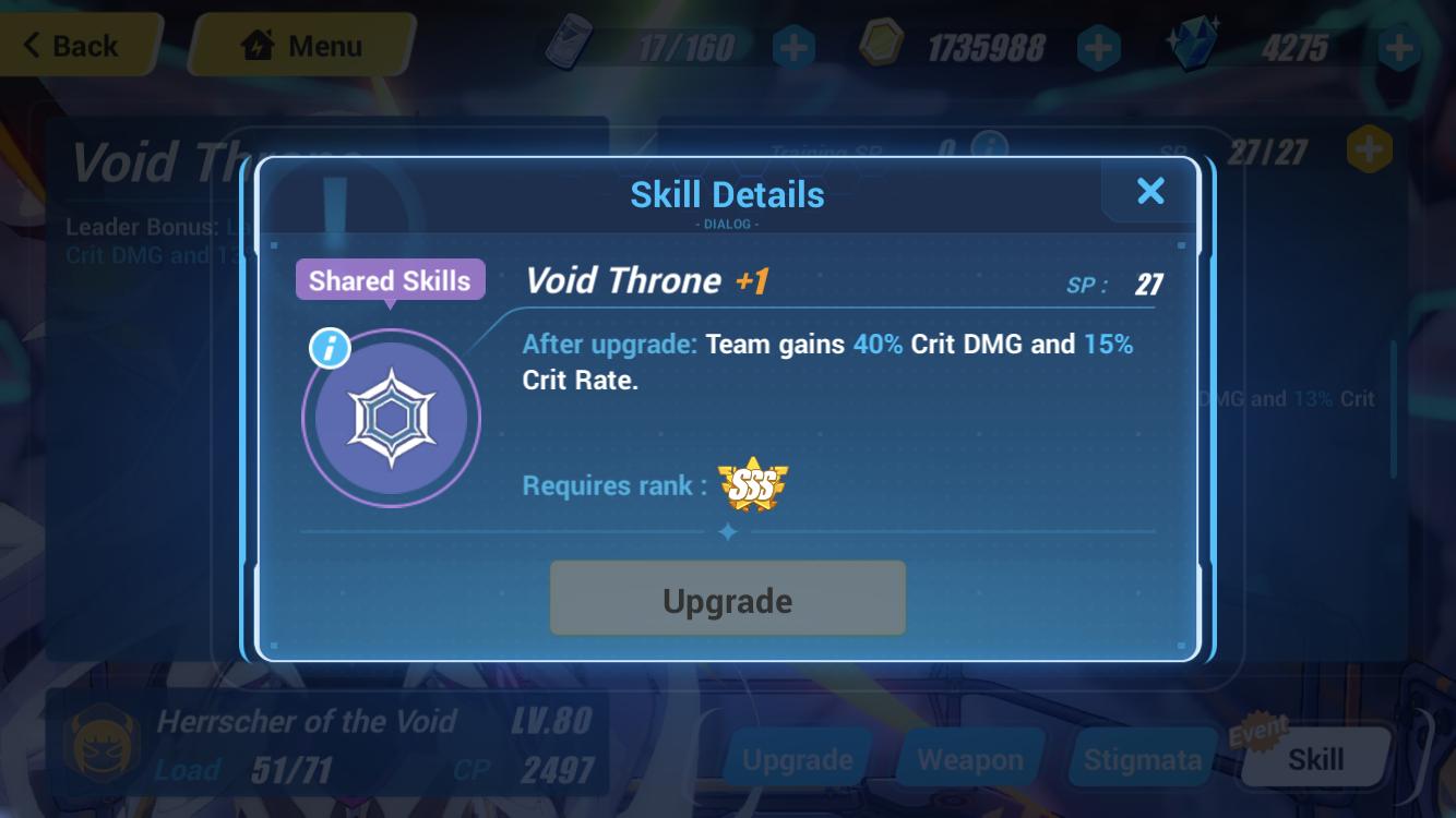HoV lead skill